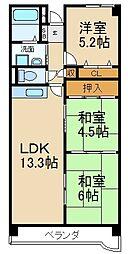 大阪府枚方市出口1丁目の賃貸マンションの間取り