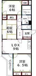 東京都国分寺市戸倉4丁目の賃貸マンションの間取り