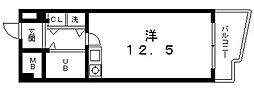 ハピネス上六[5階]の間取り