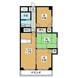小鶴館[6階]の間取り