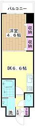 ミューズ竹の塚 3階1DKの間取り