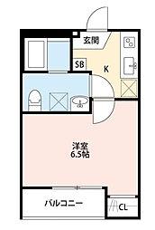 埼玉県さいたま市浦和区領家7丁目の賃貸アパートの間取り