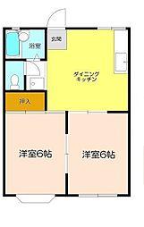 タジマハイツA[1階]の間取り