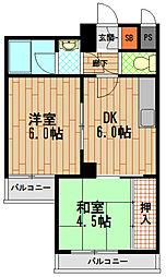 デコール岡本壱番館[3階]の間取り