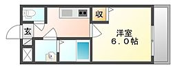 岡山県岡山市中区原尾島3丁目の賃貸アパートの間取り