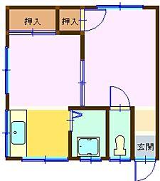 広島県呉市警固屋2丁目の賃貸アパートの間取り