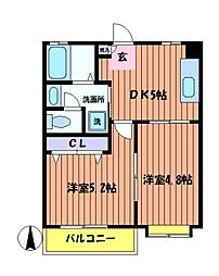 武蔵丘[1階]の間取り