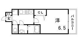 プレサンスTHE神戸[4階]の間取り