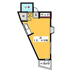カーサ松本[4階]の間取り