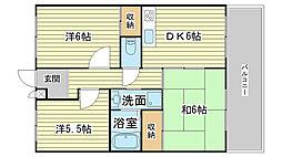 蒲田ハイツ[201号室]の間取り