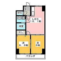 ホワイトストーン[4階]の間取り