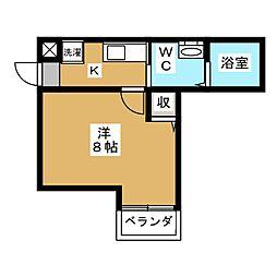 アークリード京都千本[4階]の間取り