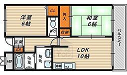 ラ・リヴェール・レスト 3階2LDKの間取り