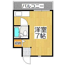 京都府京都市伏見区松屋町の賃貸アパートの間取り