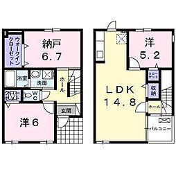 [テラスハウス] 大阪府貝塚市脇浜2丁目 の賃貸【/】の間取り