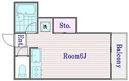 ルミエール富士見[1階]の間取り