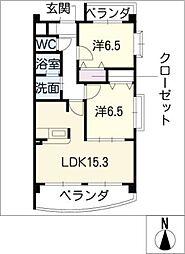 ピーブルームI[1階]の間取り
