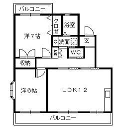 ソシア安松[3階]の間取り