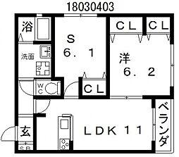 麗風苑[3階]の間取り