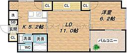 天満アパートメント[9階]の間取り