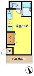 神奈川県横浜市南区大岡1の賃貸アパートの間取り