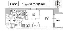 ミラージュパレス南船場[1102号室号室]の間取り