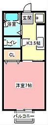 セジュールオオムラ[2階]の間取り