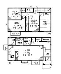 [一戸建] 神奈川県川崎市麻生区片平5丁目 の賃貸【/】の間取り