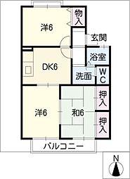 オークレール 2[2階]の間取り