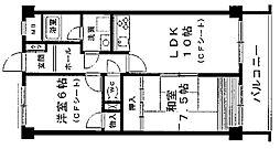 ソシア武庫川[113号室]の間取り
