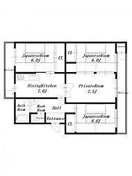 Aマンション11[4階]の間取り