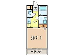 クオリティ武庫之荘[2階]の間取り