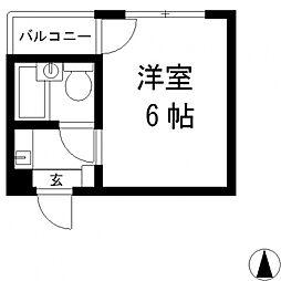 ジュネス八戸ノ里[201号室号室]の間取り