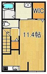 JR久大本線 田主丸駅 徒歩15分の賃貸アパート 2階ワンルームの間取り