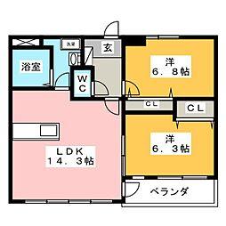 グランベール[2階]の間取り