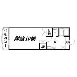 静岡県浜松市中区海老塚2丁目の賃貸マンションの間取り