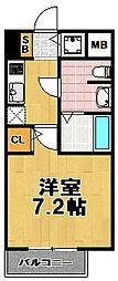 エクスクルーシブレジデンス西九条[5階]の間取り
