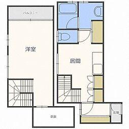 liendesix[2階]の間取り