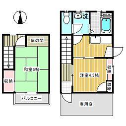 [テラスハウス] 東京都杉並区大宮1丁目 の賃貸【/】の間取り