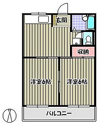 小林マンション[1階]の間取り