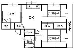 田島ハイツ_[1階]の間取り