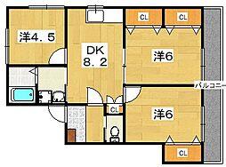フォーチュンパイン[2階]の間取り
