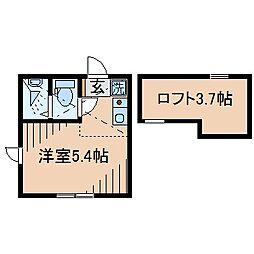 Huvafen Fushi 鶴見[201号室]の間取り