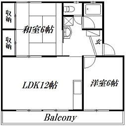 静岡県浜松市中区上島1丁目の賃貸マンションの間取り
