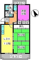 グレースマンション・ヤナセ[2階]の間取り