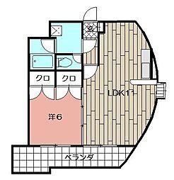 ウィルステージ古船場[1104号室]の間取り