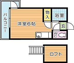 ベルコート折尾[2階]の間取り