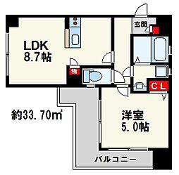 ラフォーレ六本松[2階]の間取り