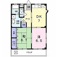 エステートSUGI I[2階]の間取り