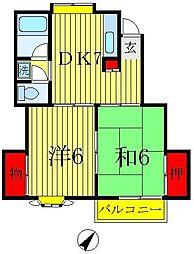 ストークハイツ飯嶋[2階]の間取り
